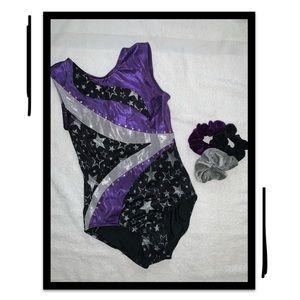 Black and Purple Balera Kids Leotard - Girls M